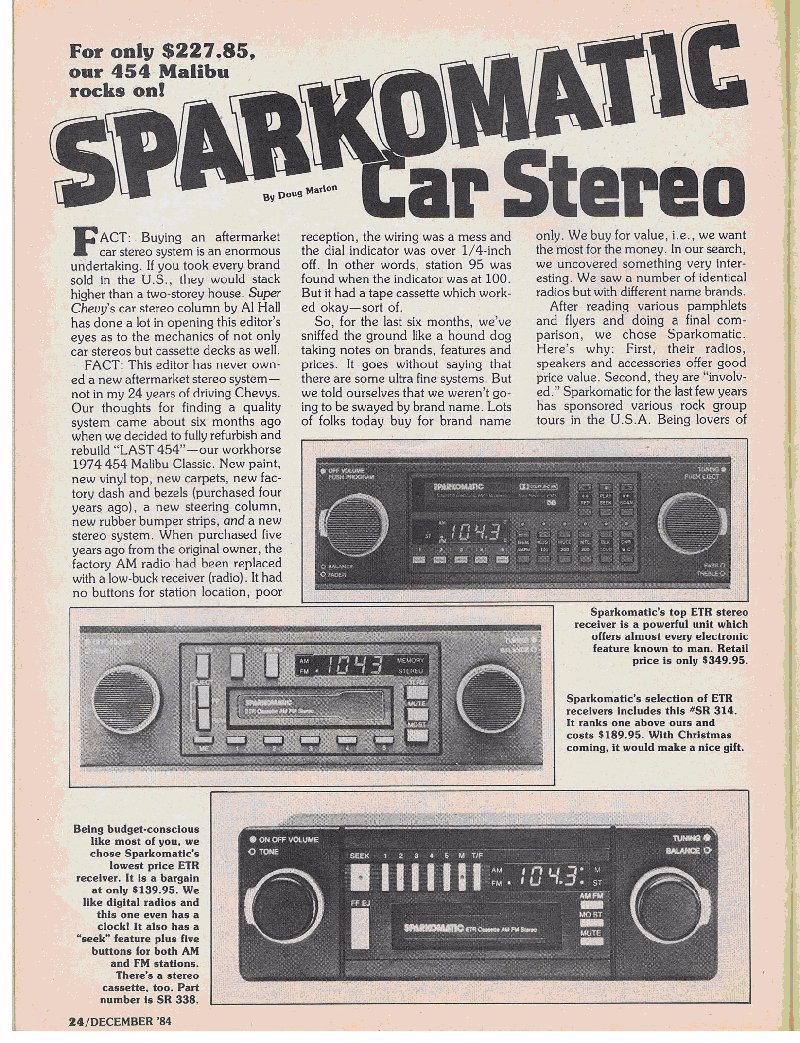 List of Audio brands and how they rank Sparkomatic